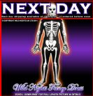 HALLOWEEN FANCY DRESS # FULL BODY SKELETON COSTUME XL
